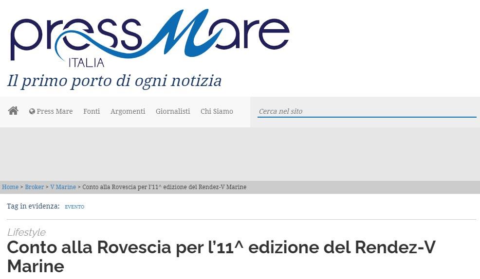 RENDEZ-V MARINE 2021 Pre-evento – pressmare.it